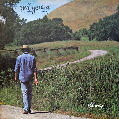 Neil Young: Old Ways, 1985., LP cover 1985. Art Artist ArtWork Author Charts Gramophone Record History LP Music Musician Neil Young Old Ways Pop Culture Rock Singer
