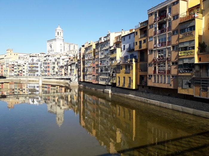 Girona Catalonia Catalunya Onyar Onyar River Cases Onyar Water Old Town