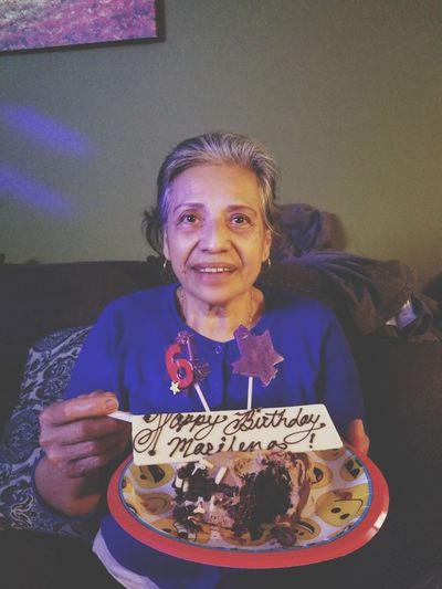 the years can pass on and be forgotten but the meaningful memories are the ones that are everlasting... Galaxy Photography Mom Beauty Life Moments This Is Aging Portrait Looking At Camera Smiling Happiness Senior Adult Front View Birthday Cake