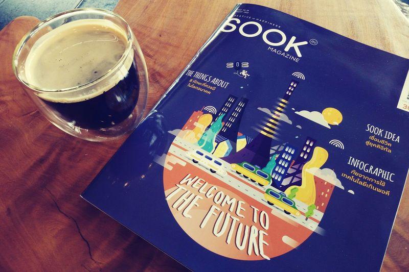 Coffee Joon's Photos Ubon Ratchathani Happyday Blackcoffee Wiko Wikofever Thailand Lifestyle Weekend Americano Book Magazine The Future ☕📖📚🚀