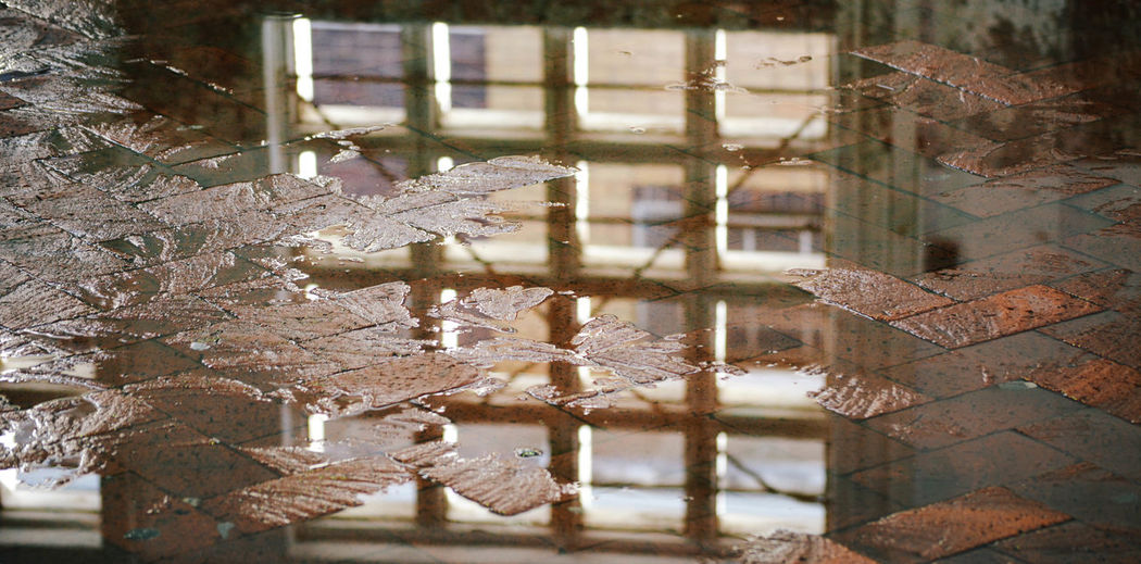 Abandoned Close-up Industrial Puddle Reflection Warehouse Water Water Reflections