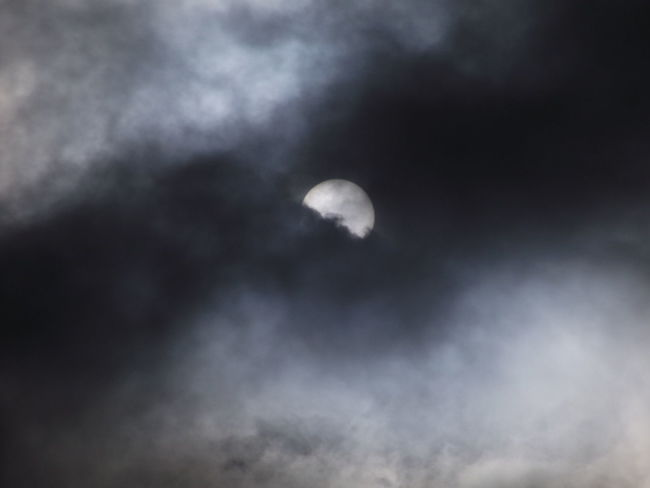 is it the moon or the sun? Astronomy Backgrounds Beauty In Nature Cloud Cloud - Sky Cloudscape Cloudy Dark Dramatic Sky Idyllic Low Angle View Majestic Moon Nature No People Outdoors Overcast Scenics Sky Sky Only Tranquil Scene Tranquility Weather