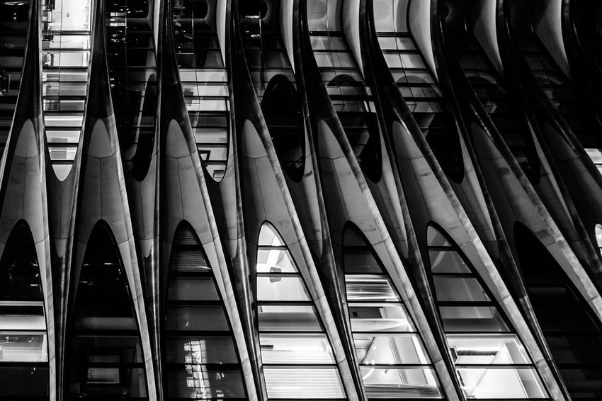 Architecture Built Structure Close-up Day Full Frame In A Row Indoors  Low Angle View Modern No People