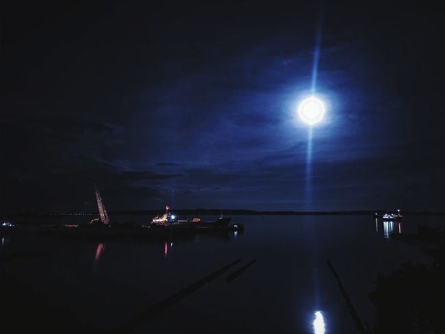 """Once in a blue moon"" Night Nightphotography Bluemoon Reflection Tranquility Clear Sky First Eyeem Photo EyeEmNewHere"