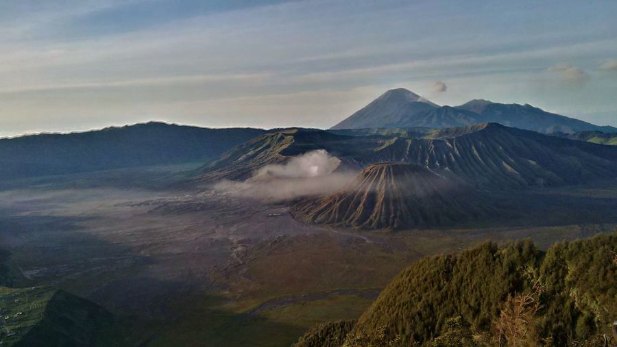 View of Bromo EyeEm Selects Fog Mountain Volcano Morning Nature Cloud - Sky Tree