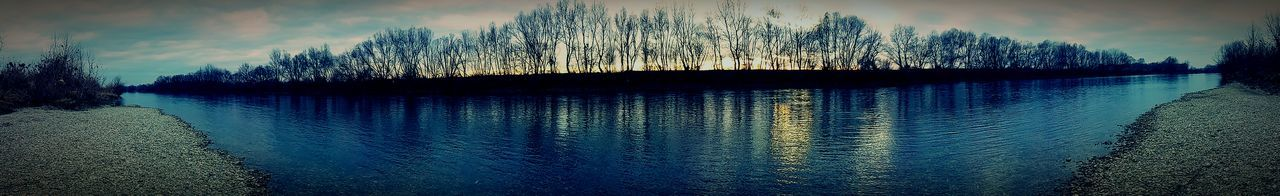 Reflection River View Sunset Getting Inspired Sava River Croatia