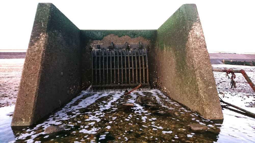 Day Outdoors Sewercover Drainage Channel No People Forbidden Places Secret Entrance