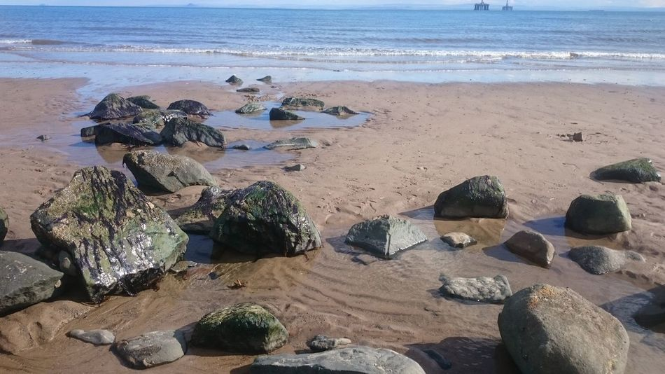 Leven Beach Stone Formation Sand & Sea Sand And Stone Beachphotography Beautiful Nature