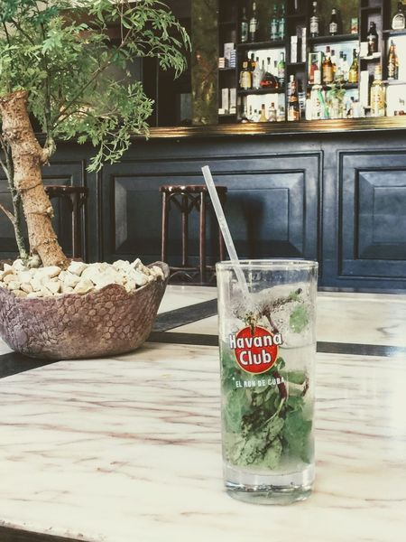 Mojito! Close-up Day Drink Food Food And Drink Freshness Indoors  Mint Leaf - Culinary Mojito No People Refreshment Table Text