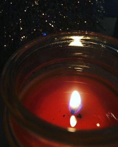 Merry christmas Candle Flame Tea Light Illuminated Burning No People Close-up Indoors  Heat - Temperature Night