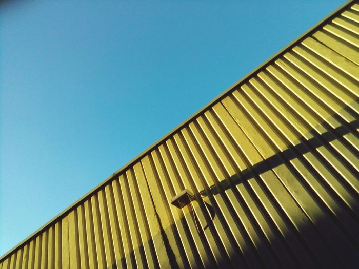 Architectural Detail Textures Shapes And Forms Colors Diagonal Lines Leading Lines Blue Sky Yellow
