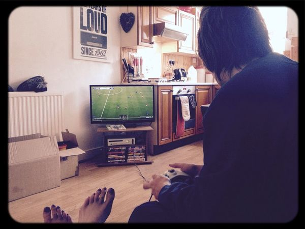 Boys will be boys Boyfriend Fifa Paying Attention Enjoying Life Hi!
