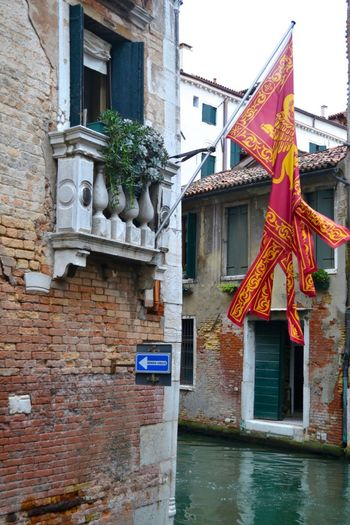 Flag Oneway Canal Venice