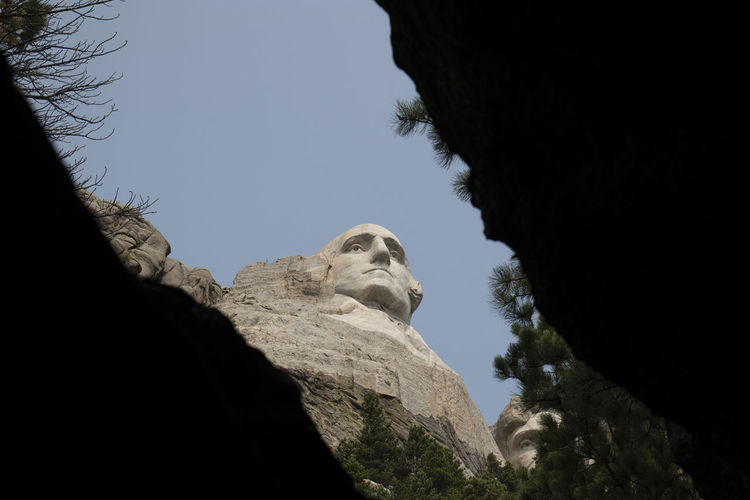 Mount Rushmore Mount Rushmore National Memorial President South Dakota Washington Architecture Art And Craft Clear Sky Day History Low Angle View Mountain Nature No People Outdoors Portrait Representation Rock Rock - Object Rock Formation Sculpture Sky Solid Statue