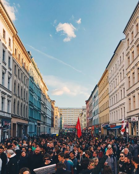 People On The Street During May 1st In Berlin