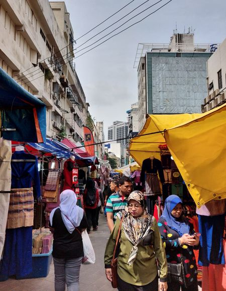 crowded City Cityscape Crowd Multi Colored Market Women Retail  Store City Life City Street