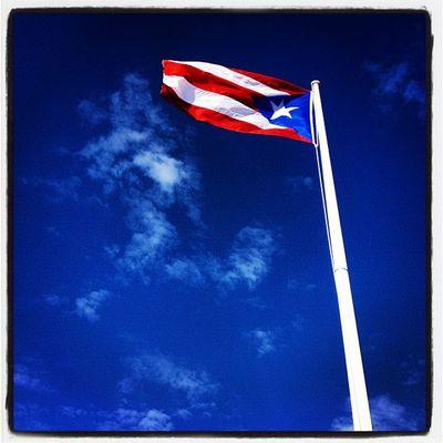 Puerto Rico Sanjuan Redwhiteblue IPhoneography San_juan Carnival Puerto_rico Blue Ccl Travel Carribean Flag Red White Island Puertorico Cruise Patriotic Excursion Spanish Pole