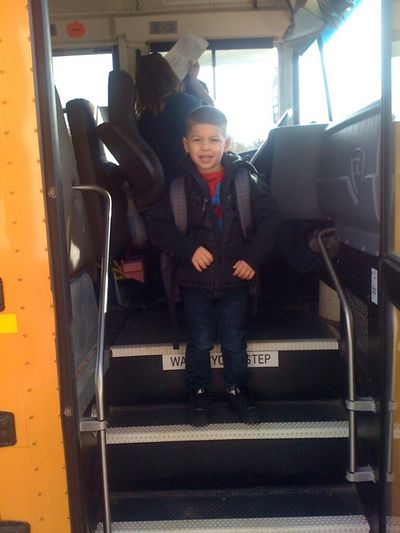 First Day School Bus