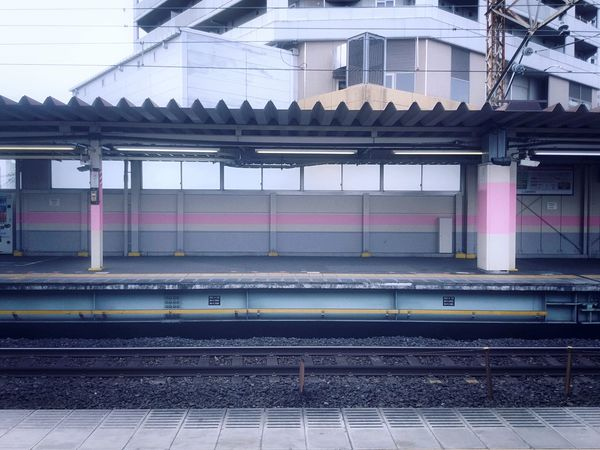 Waiting for the next train. Station Japan Railway Japan Photography Japan Railroad Track Rail Transportation Transportation Public Transportation No People Day Outdoors