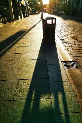 Shadow of footpath