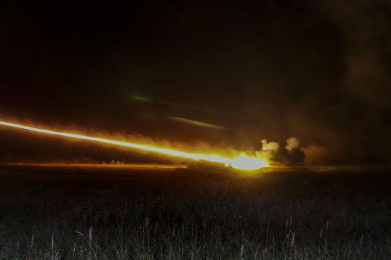 Illuminated Military Exercise NATO Rocket Streak Of Light Streaking Light Streaks Of Light Traverse