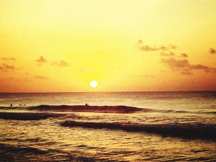 Sunset Beach Sea Sunshine Sun Blue Sky Sea And Sky Clouds And Sky
