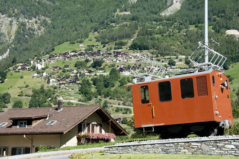 Mountain Railway Cart Gimmelwald Cart Jungfrau Railroad Track Railway Railway Car Switzerland