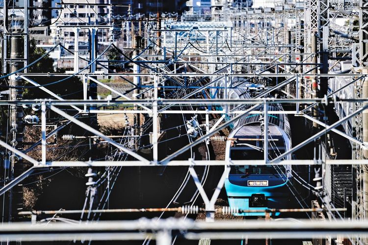 Tokyo Tokyo,Japan Train Photography Train Built Structure No People Day Transportation Metal Backgrounds Building Pattern City Mode Of Transportation High Angle View