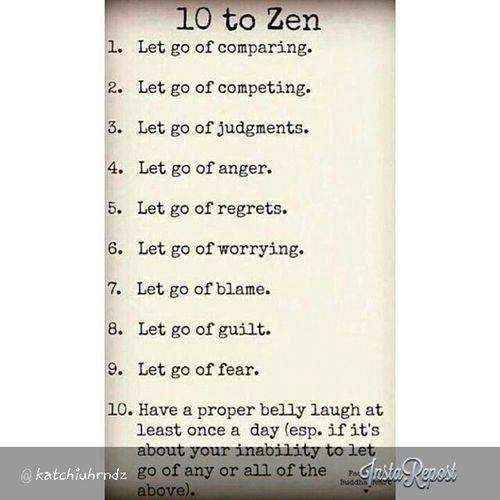 Live your life the Zen way. Zenlifestyle Goodhappylife Peaceandquiet
