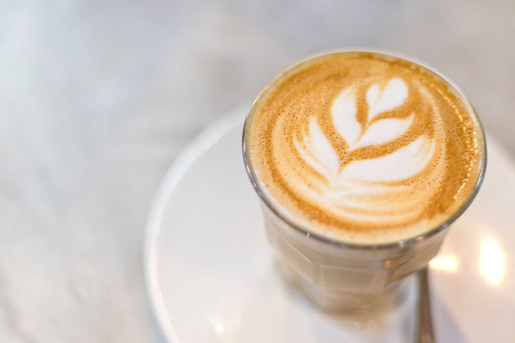 Coffee latte art Coffee Coffee - Drink Drink Refreshment Food And Drink Hot Drink Coffee Cup Latte Cappuccino Cup Mug Frothy Drink Froth Art Still Life Creativity Close-up No People Saucer Indoors  Food Crockery Glass Breakfast Coffee Shop Caffeine