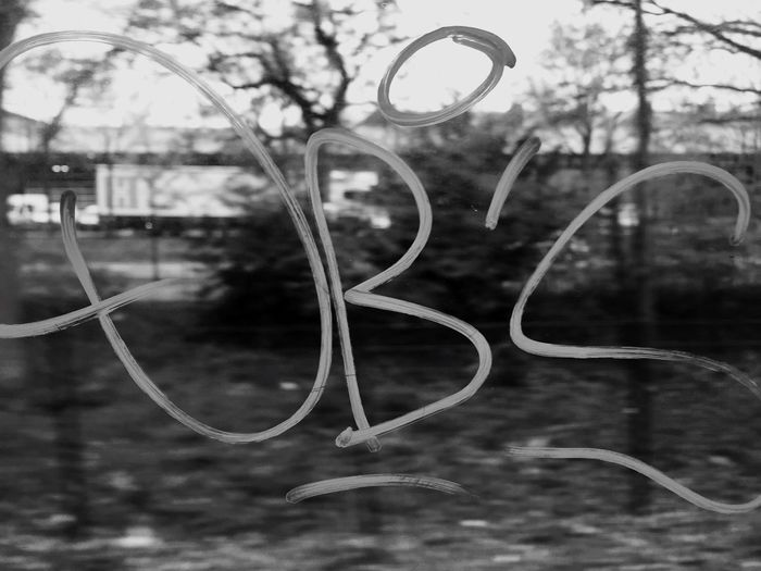 Tags / Art Public Transportation Tagging Creative Steetphotography Streetphoto_bw Blackandwhite Eye4photography  Check This Out Window Graffiti