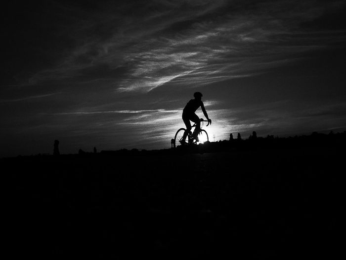 Alone Berlin Bicycle Black & White Black And White Blackandwhite Bw Celebrate Your Ride Cycling Flowshot Fun Getting Away From It All Life Lifestyle Lifestyles Light Outdoors Riding Silhouette Sport Sport In The City Sports Photography Tempelhof Airport Tempelhofer Feld Weekend Activities