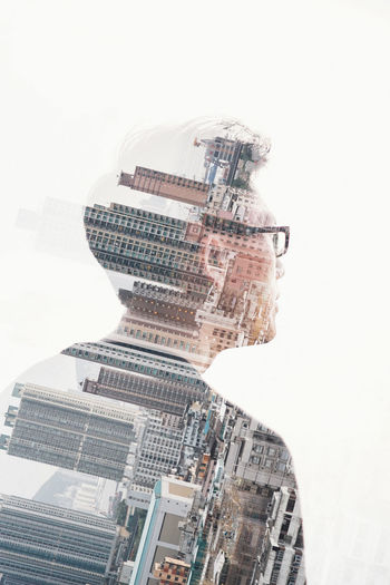 Architecture City Cityscape Close-up Communication Connection Cyberspace Day Development Digital Composite Double Exposure Doubleexposure Futuristic Headshot Internet One Person People Pixelated Portrait Of A Friend Rear View Skyscraper Studio Shot Technology White Background Wireless Technology