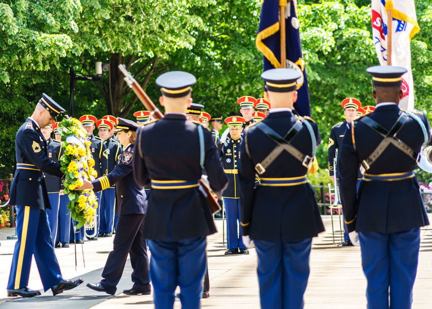 Abundance Arlington National Cemetery Armed Forces Casual Clothing Day Graveyard Heroes Honor Guard In A Row Leisure Activity Lifestyles Medium Group Of People Military Outdoors Police Respect Side By Side Soldiers Tomb Of The Unknown Soldier Up Close Street Photography Washington, D. C.
