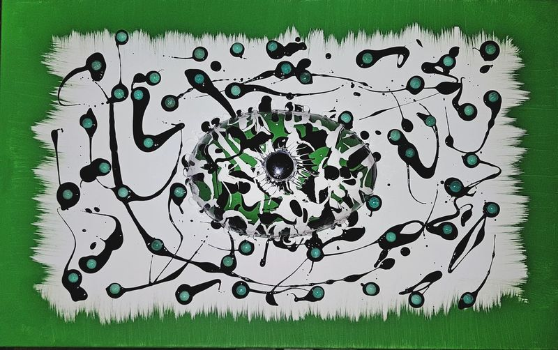 Green Color Abstract Jürgen Lay Painted Image Recklinghausen Gemstone  ArtWork Kunsthaus_Lay Crashpaint