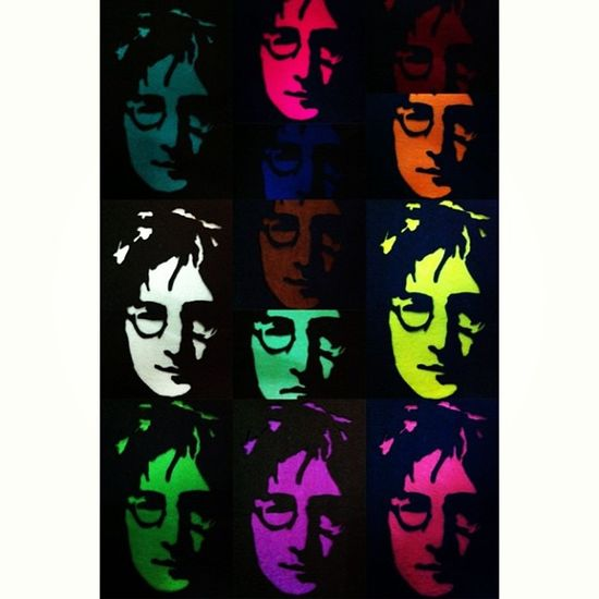 The Colours Of Lennon. Feltproject Johnlennon CraftyArt Malaysiancrafter