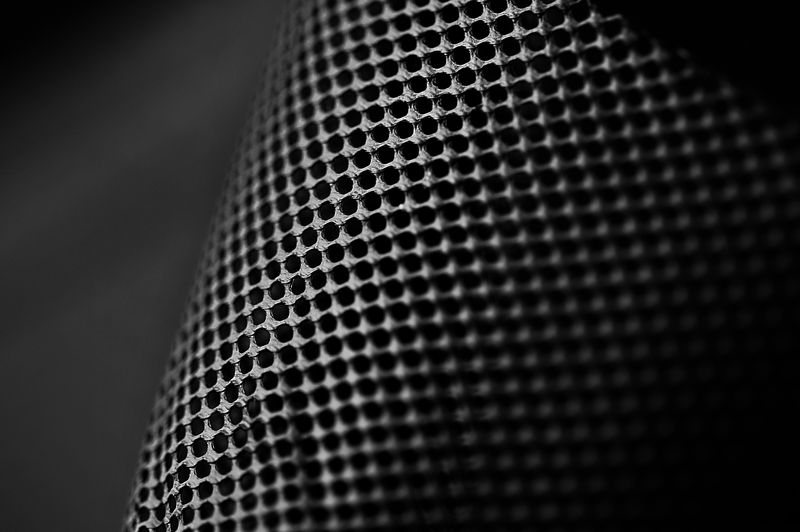 Extreme Close-Up Of Microphone