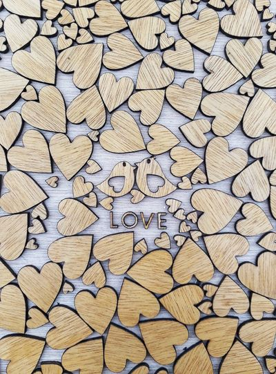 Full Frame Backgrounds Textured  Pattern Close-up Woodpieces Woodword Love Lovepiece Studio Shot No People