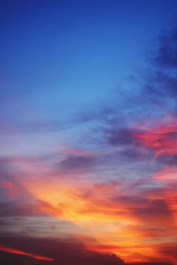 Sky Cloud - Sky Dramatic Sky Sky Only Red Nature Sunset Blue Backgrounds