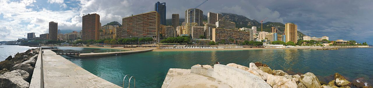 Monte-Carlo, Monaco Monaco Panorama EyeEm Selects Built Structure Architecture Building Exterior City Water Building Sky Skyscraper Nature Cityscape Urban Skyline Office Building Exterior Cloud - Sky Modern Tall - High Day No People Outdoors