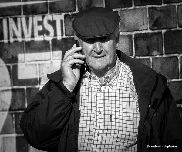 Farmer at this year's Ploughing Championships 2014 Rural Ireland Ireland Monochrome
