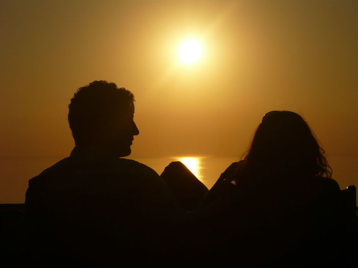 Adult Adults Only Classical Concert Date Night - Romance Love Outdoors People Real People Relationship Silhouette Sky Sun Sunset Togetherness Two People