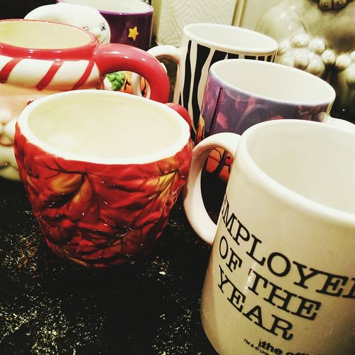 Decluttering kitchen cabinets means some coffee mugs have got to go. Maybe someone else might want these. Coffeemug CoffeeMugs Theoffice Fall Zebra Santa Halloween Ghost Arizona CliffCastleCasino