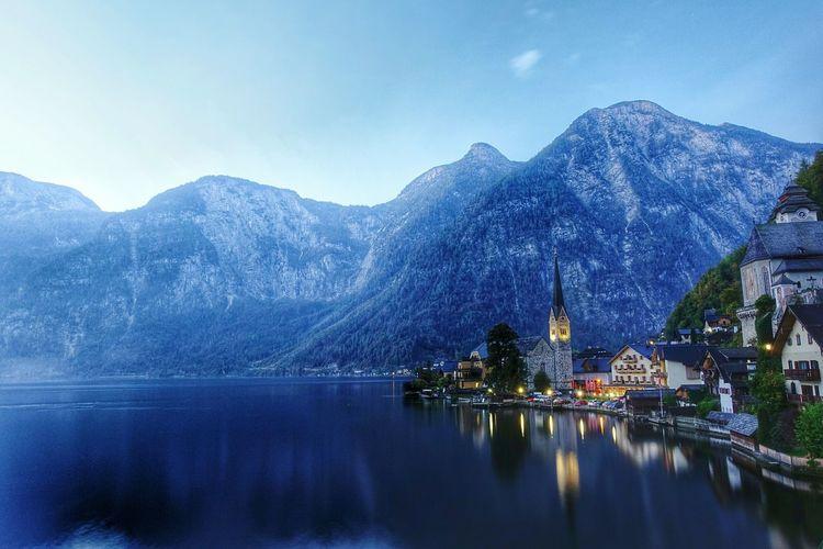 Fairytale Town Of Hallstatt.. UNESCO World Heritage Site Hallstatt Austria Firstlight