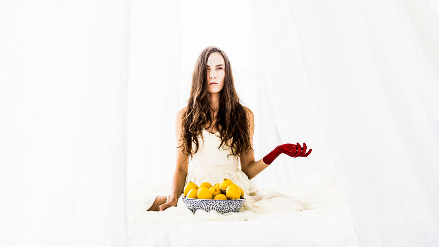 CreativePhotographer Inner Power Beautiful Woman Beauty Lemons Lifestyles Portrait Studio Shot Unique White Background