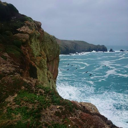 South headed to LandsEnd Cornwall Uk