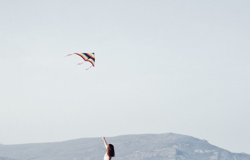 Person jumping in mid-air