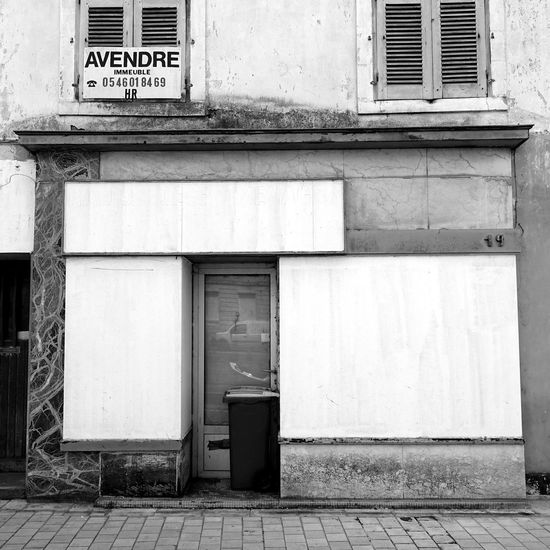 Black & White Abandoned Architecture Black And White Black And White Collection  Black And White Photography Black&white Blackandwhite Blackandwhite Photography Blackandwhitephotography Building Building Exterior Built Structure Closed Shop Day Door Entrance No People Window