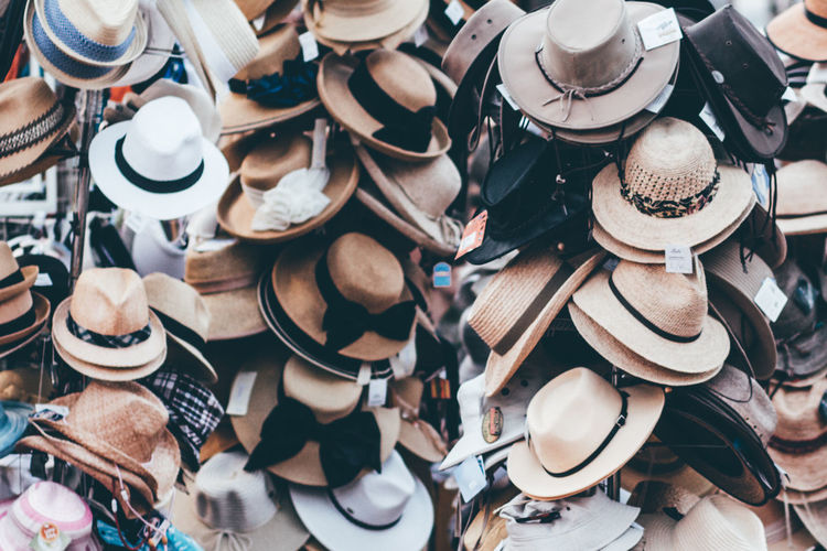 Backgrounds Close-up Consumerism Cowboy Hat Day Full Frame Hat Hats High Angle View Indoors  Large Group Of Hats Large Group Of Objects Market Market Stall Newport No People Retail  Still Life Strawhat EyeEm Diversity An Eye For Travel The Still Life Photographer - 2018 EyeEm Awards