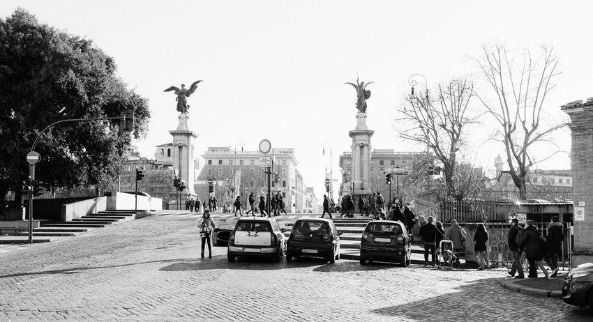 Parked Architecture City Day Fujifilm_xseries Land Vehicle Mode Of Transport No People Outdoors Sky Statue Street Light Transportation Tree VSCO Vscofilm Vscogood X100S